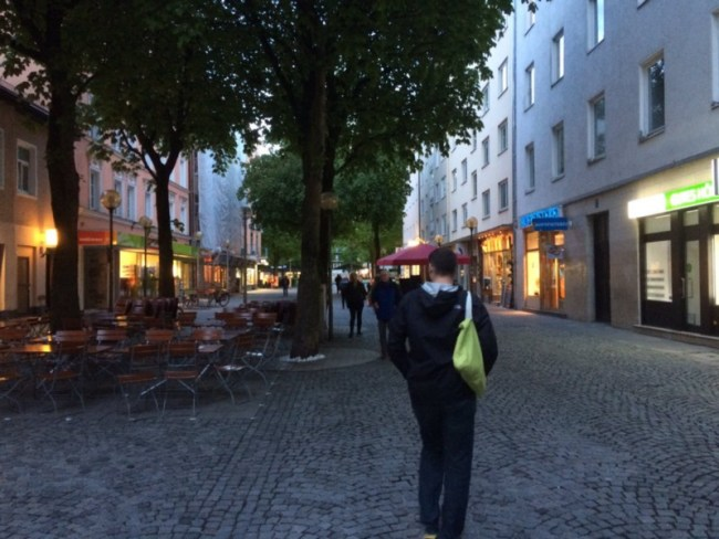 Munich's car-free Weissenburger Strasse.