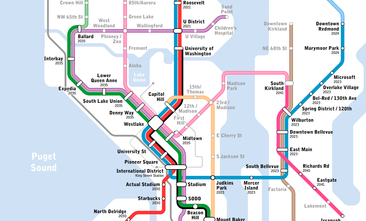 New York Subway Map Future.Seattle Subway Drops New Expansion Map Hoping To Guide St3