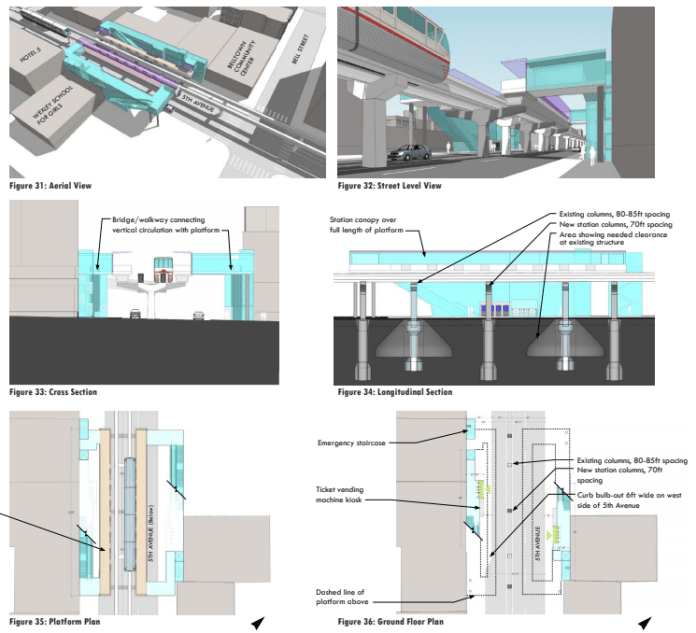 How a Belltown infill station might work. (VIA Architecture)