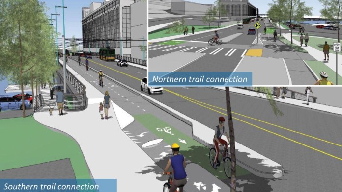 The future streetscape of the Fairview Avenue bridge. (City of Seattle)