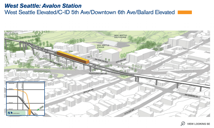 Rough rendering of what an Avalon Station could look like. (Sound Transit)