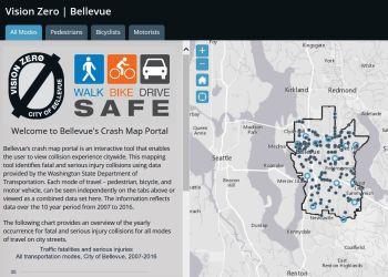 Crash Map Portal. (City of Bellevue)