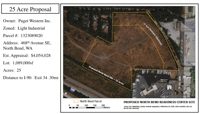 Proposed Washington Army National Guard site in North Bend. (Washington Army National Guard)