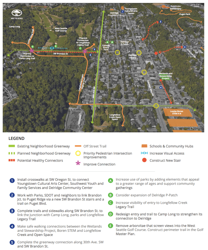 Proposed improvements that could enhance Brandon Junction in the future. (City of Seattle)