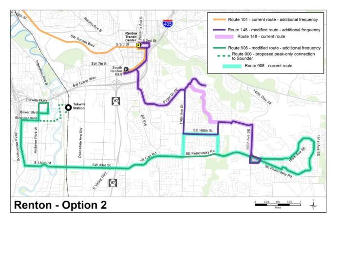 Option 2 for the Fairwood area. (King County)
