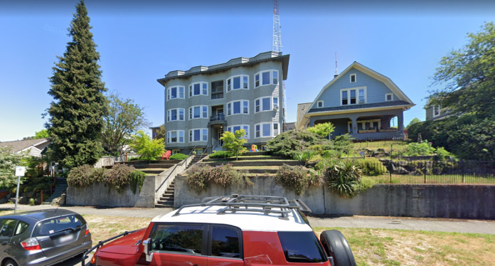 Existing non-conforming multifamily housing in a Queen Anne neighborhood.