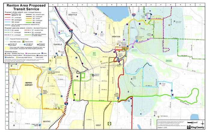 Proposed Renton bus route restructure. (King County)