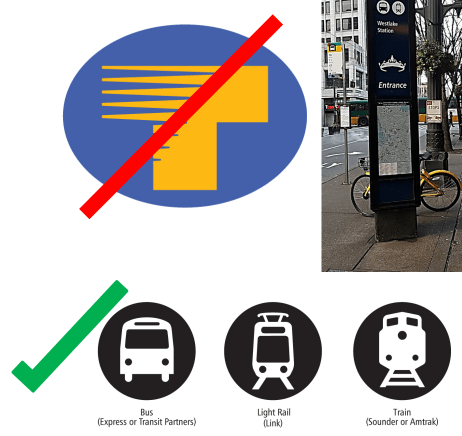 The Regional T will be retired in favor of more identifiable graphics. (Sound Transit)