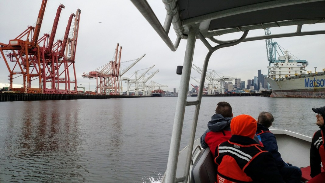 The Urbanist took a boat tour in April 2017 of the Port of Seattle, which is a vital engine for the region and a productive advantage for local industry. (Photo by Doug Trumm)
