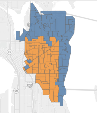 Sawant won District 3 by carrying the more densely populated southwest core of the district. She lot in Monlake and along the slopes of Lake Washington.