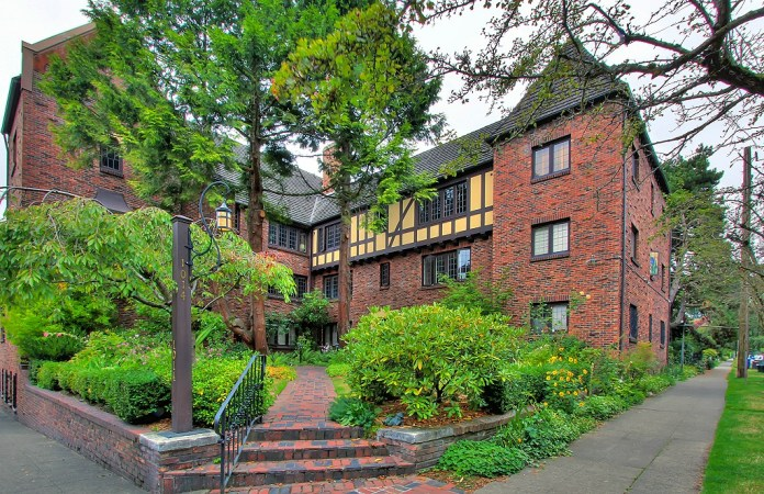Fred Anhalt designed and built this Capitol Hill courtyard-oriented building in 1929. (Courtesy of Urban Living)