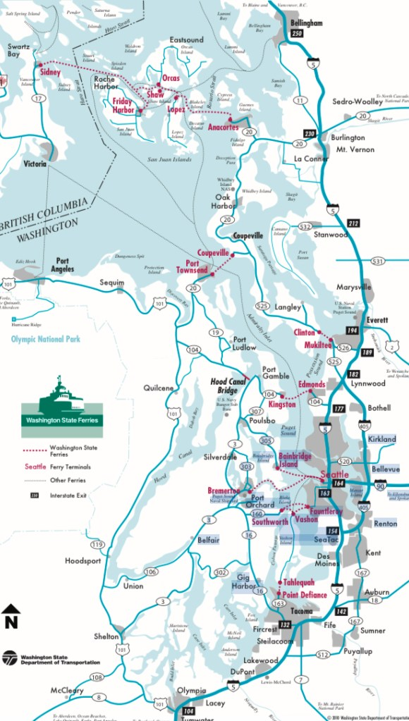 Washington's state ferry network. (Washington State Department of Transportation)