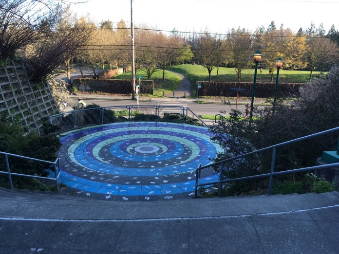 The steps to gasworks are a public park where social distancing is not feasible.