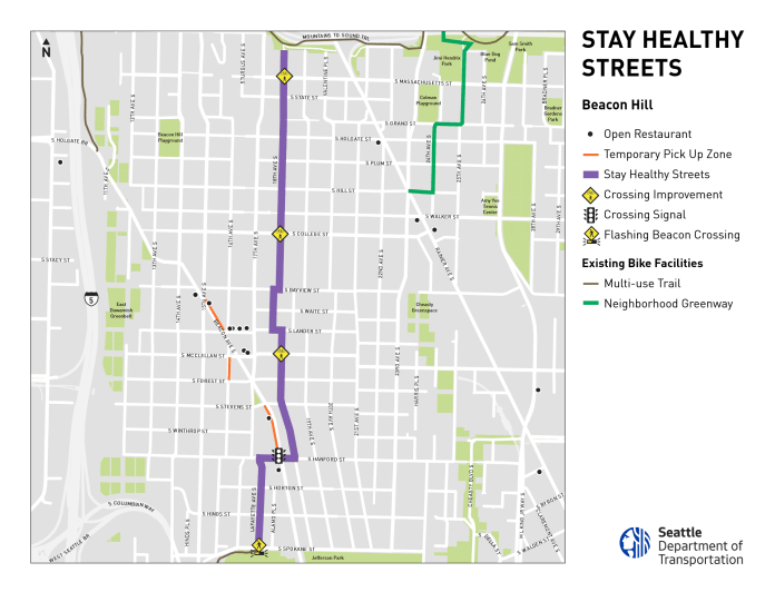 18th Avenue S will be the primary Stay Healthy Streets route through Beacon Hill. (SDOT)