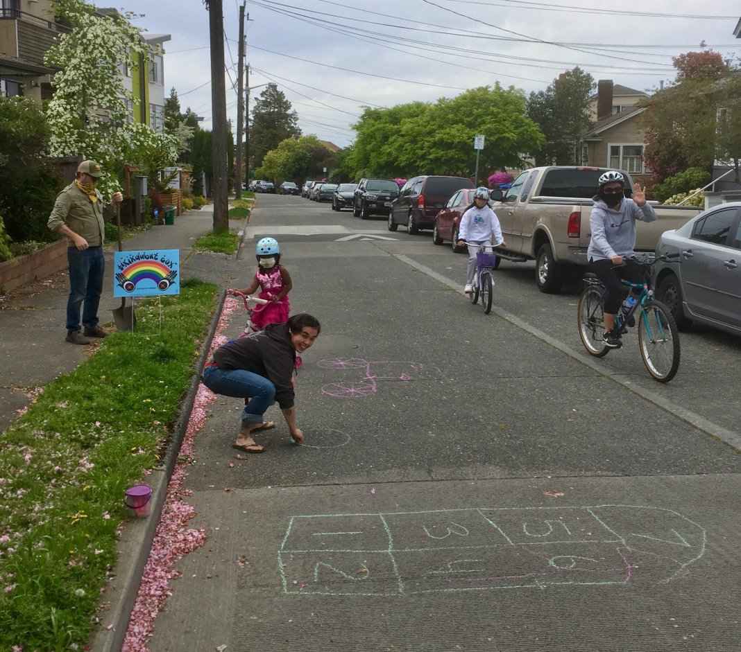 A Stay Healthy Street in Beacon Hill. (Photo by Seattle Neighborhood Greenways)