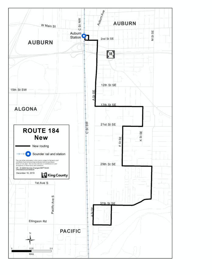 New Route 184. (King County)