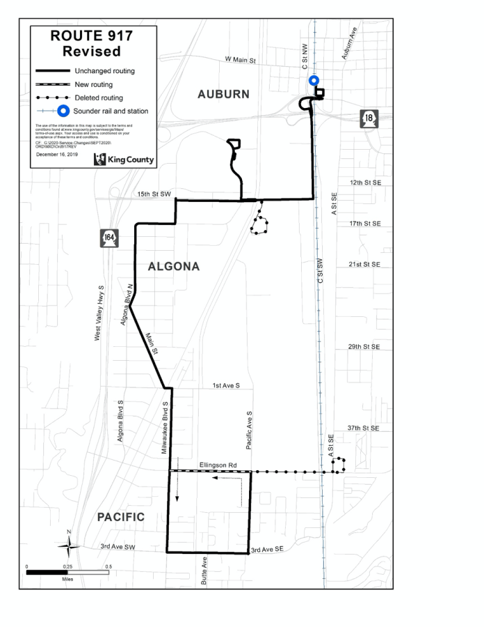 Revised Route 917. (King County)