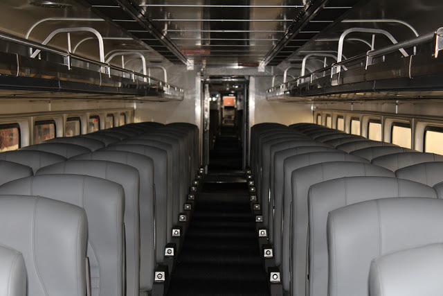 The typical interior of Horizon Series train cars. (WSDOT)