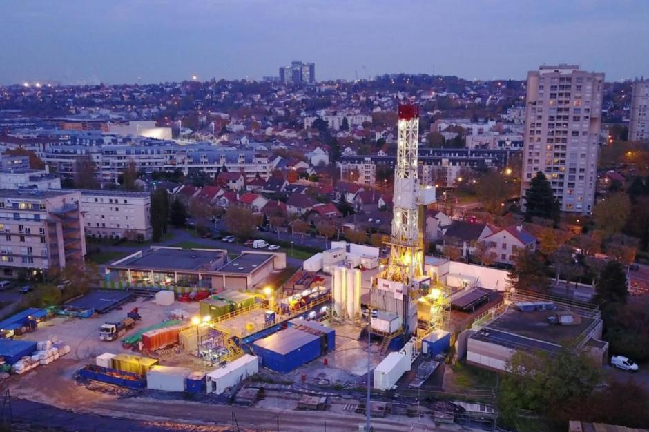 Geothermal well completed in Paris suburban Cachen in 2017(Courtesy of Dalkia)
