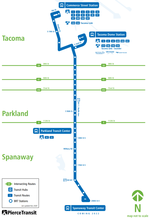 The 2022 opening date has since been pushed to 2024. (Credit: Pierce Transit)