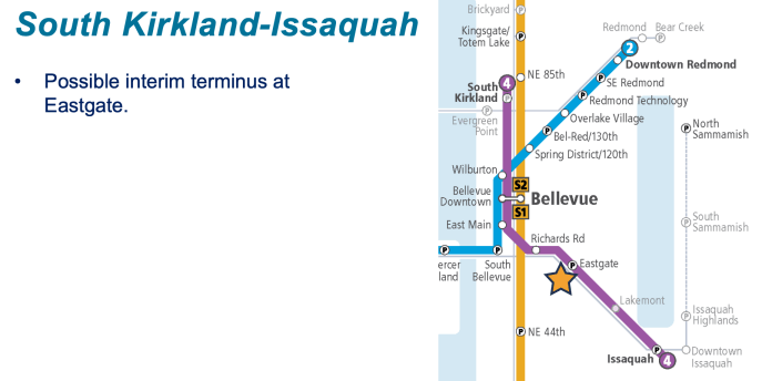 How the Kirkland-Issaquah Link extension could be phased. (Sound Transit)
