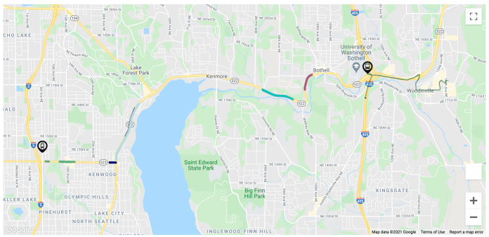 The new bus lane and transit signal priority improvements planned on the corridor. (Sound Transit)
