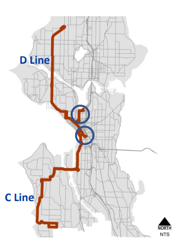 Rapid C/D and circled are possible ends cut. (Credit: SDOT)