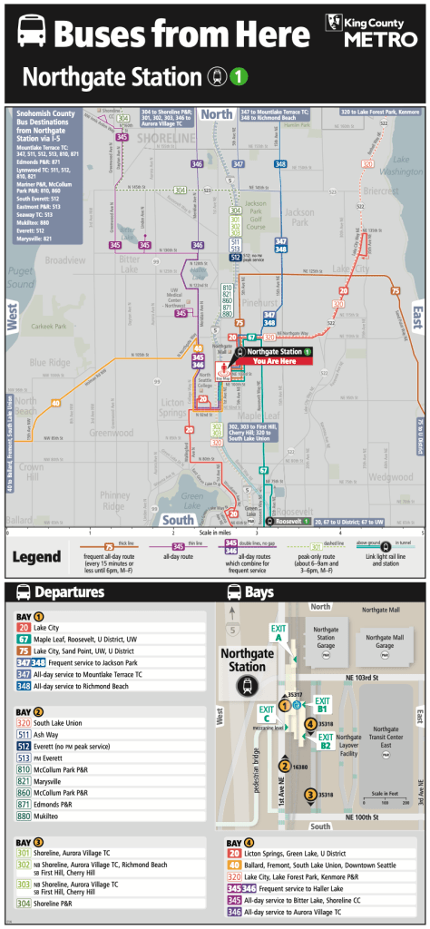 Northgate Station spider map. (Credit: King County)
