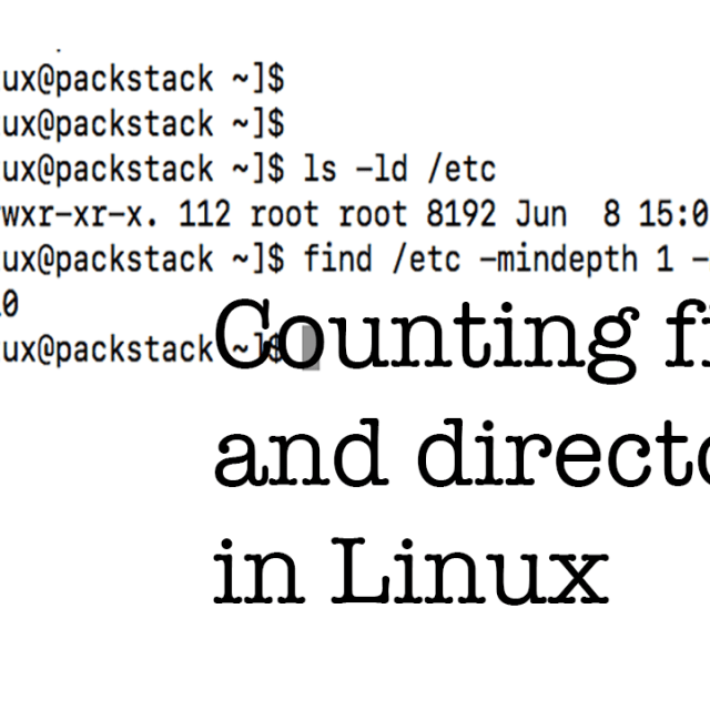 count files linux