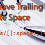 Remove Trailing Spaces Using Sed