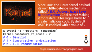 Linux Security and Learning ASLR - Address Space Layout