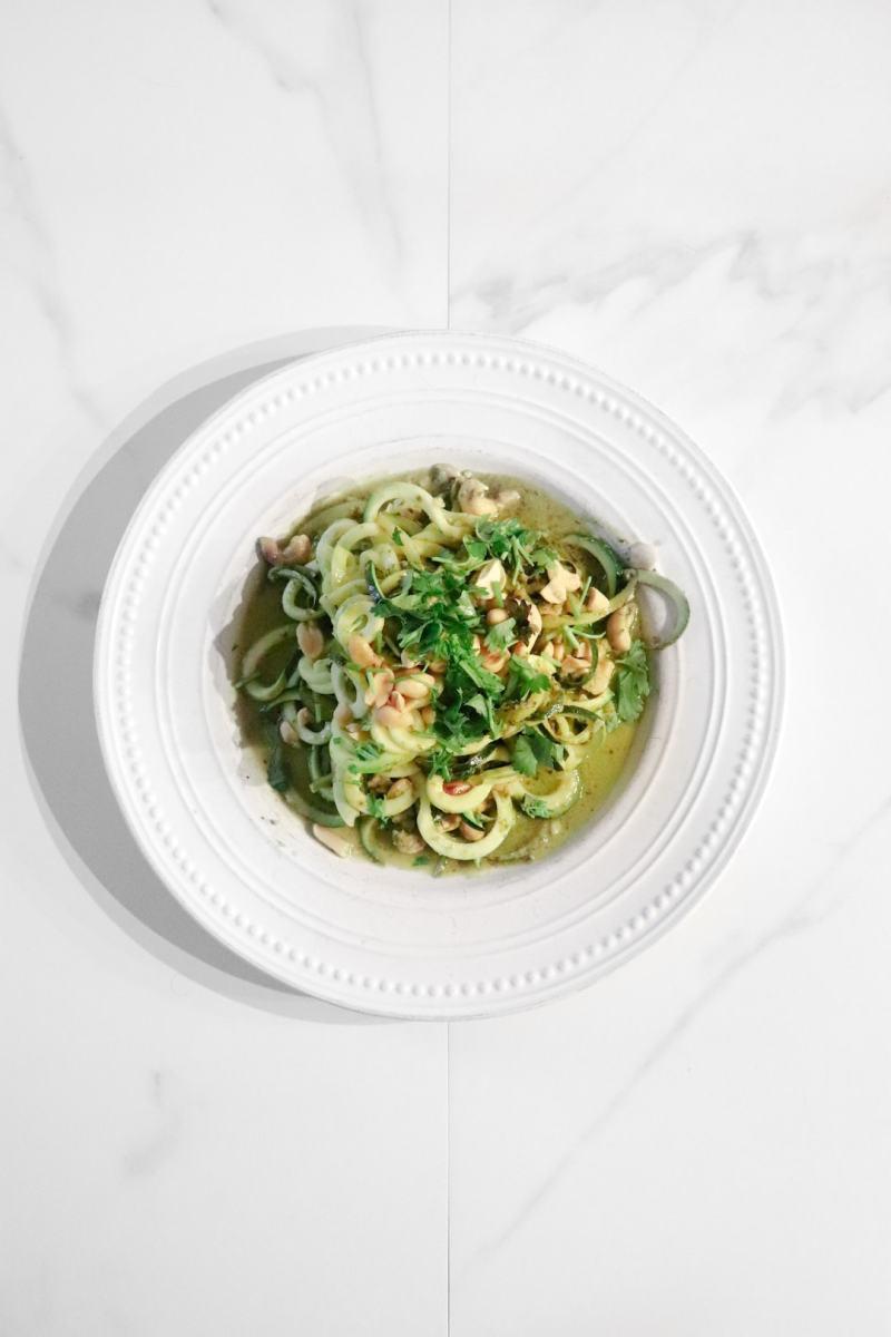 Seriously Delicious Zucchini Pesto Pasta
