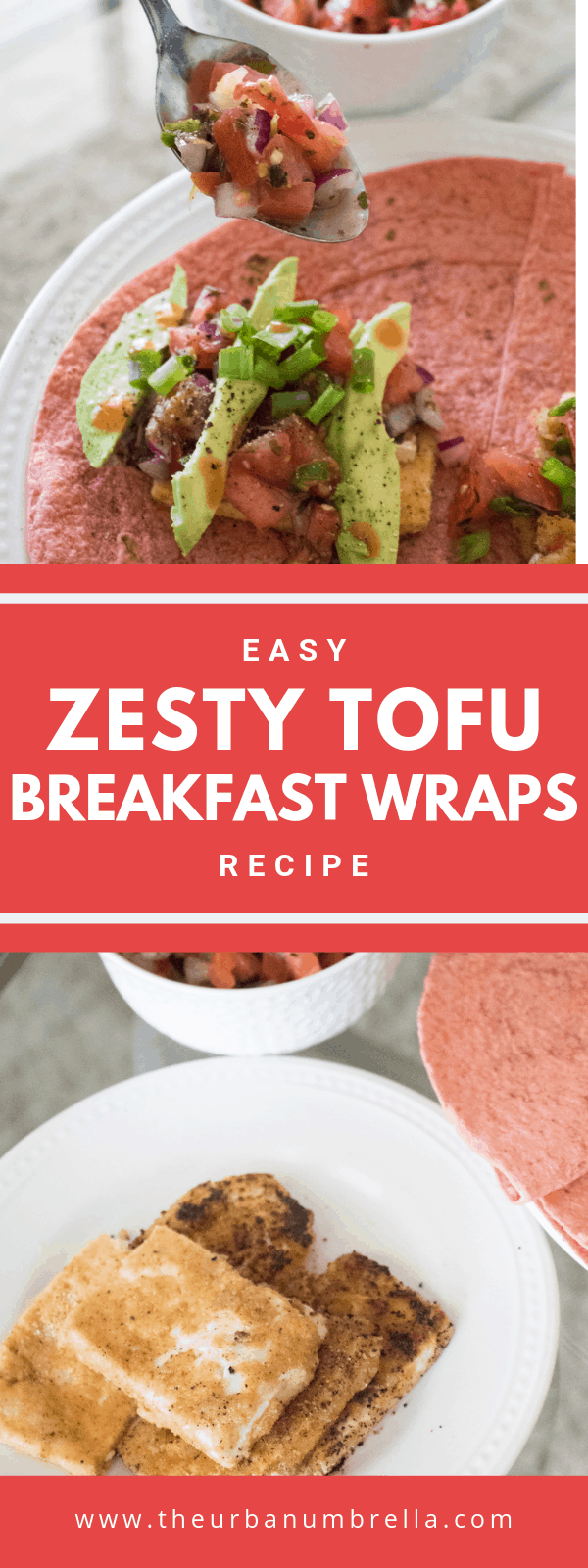 Crispy Tofu Breakfast Wraps