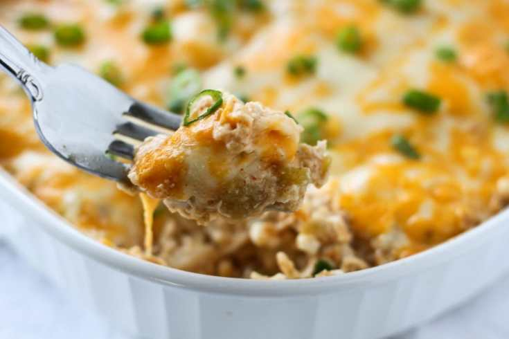 Easy Chicken Green Chili Casserole (Keto & Low Carb)