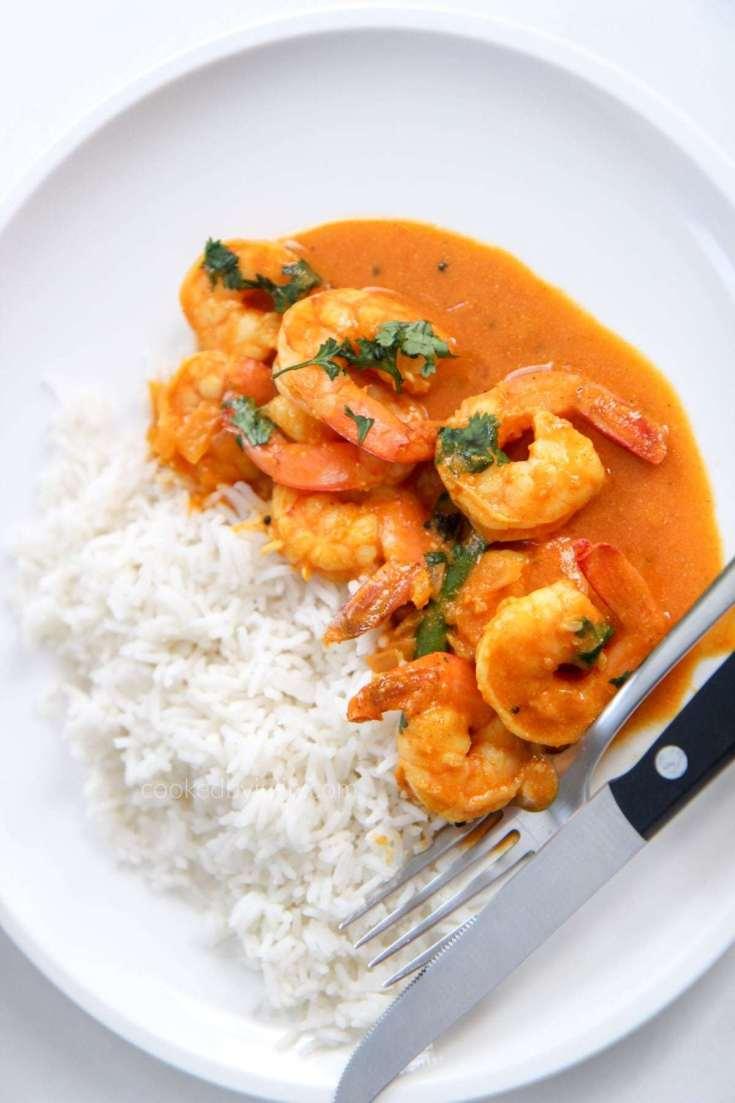 Indian Coconut Shrimp Curry