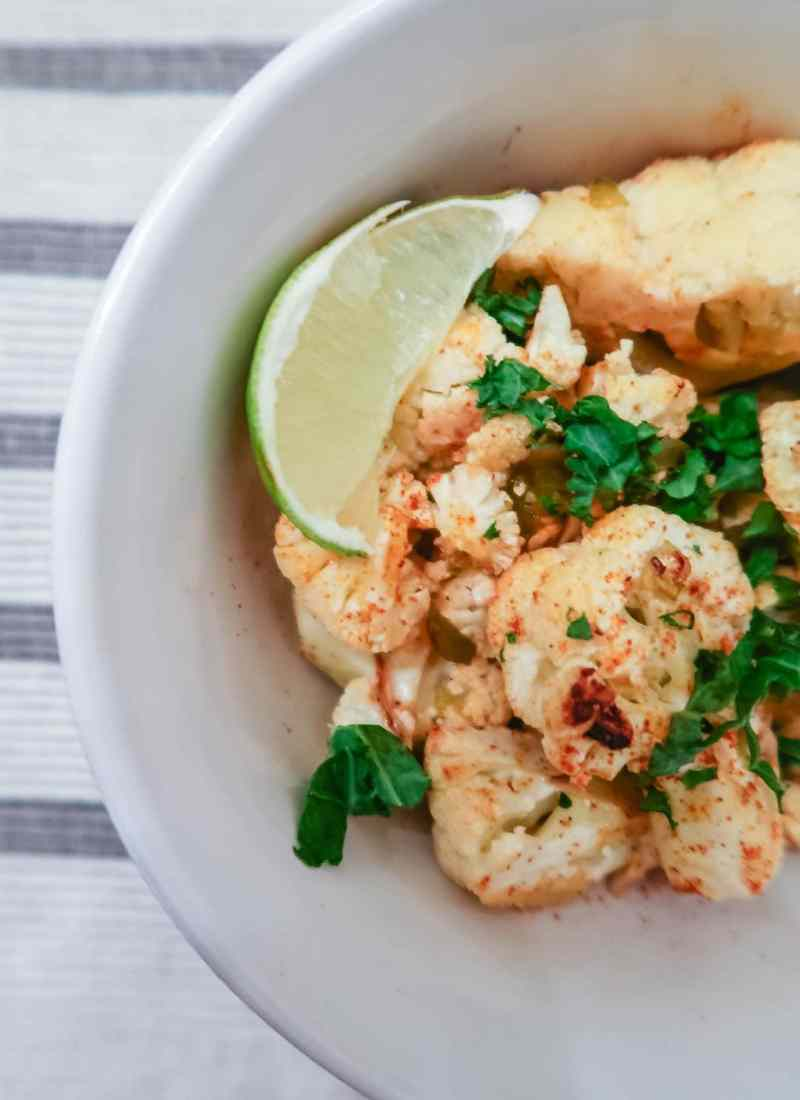 Spicy Roasted Lemon Cauliflower Recipe