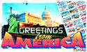 Greetings Form America postage stamp series.