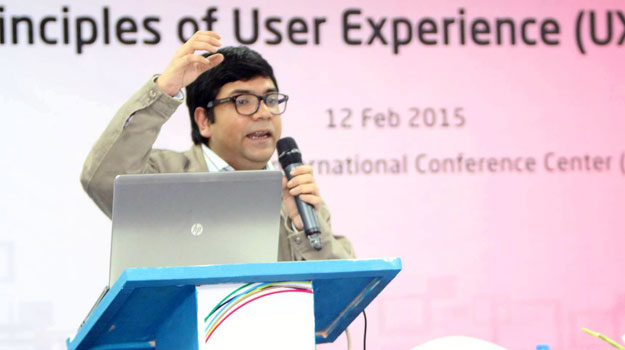 User experience session at Digital World 2015 led by Wahid bin Ahsan