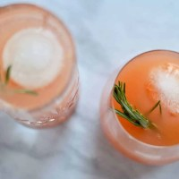 Grapefruit and rosemary gin cocktail