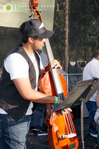 Yosmeil Montejo, bass, AC Jazz Project. Photo by Margott Skeen.
