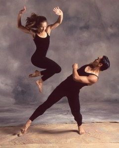 "Francisco Gella in a 1990s photo for 'Turf,  a piece by Shapiro and Smith for the Repertory Dance Theatre. Gella's newest work ""Schubert Impromptu' will be presented at the RDT 'Reunion' concert."