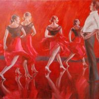 Karen Horne's latest series of paintings capture moods of dance in classic, social settings