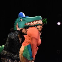 Plan-B Theatre's newest Free Elementary School Tour production, Alli and #3, featuring alligator and heron characters, introduces K-3 children to basic science of nature and climate