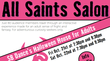 SB Dance's All Saints Salon promises artistic, adult-only Halloween haunted house experience