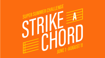 Salt Lake City Public Library's Super Summer Challenge program, Strike A Chord, has recommendations, incentives for everyone, regardless of age