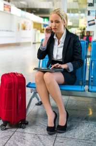 Keep track of your cell phone in the Airport
