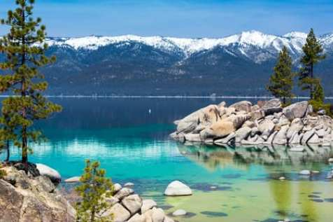 Lake Tahoe in Winter, Spring, Summer, Fall.