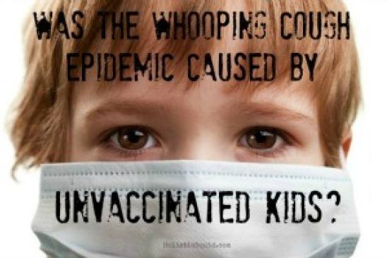 Propaganda campaign to blame unvaccinated children for spread of pertussis