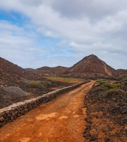 A trail through the hornitos on Isla de Lobos (Sergey Vovk/Shutterstock)