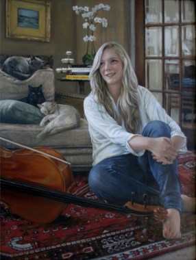 Portrait in Oils by Annabelle Valentine